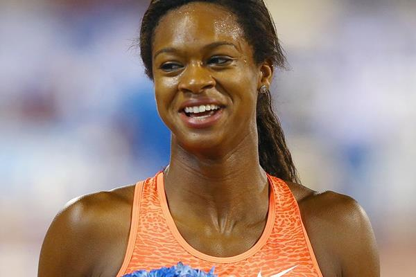 US sprint hurdler Jasmin Stowers (Getty Images)