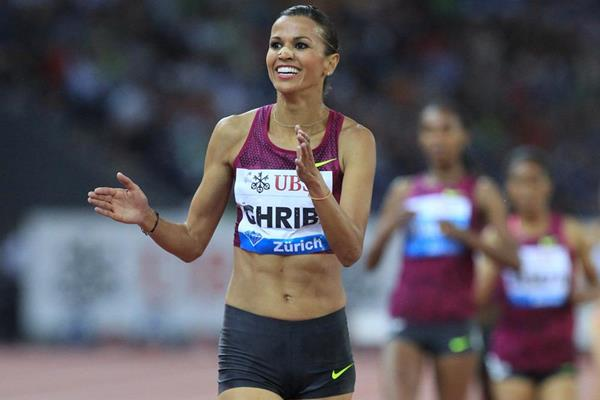 Habiba Ghribi wins the steeplechase at the IAAF Diamond League final in Zurich (Jean-Pierre Durand)