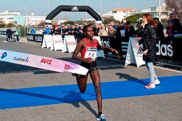 Fast 1:06:38 victory for Florence Kiplagat at the Roma Ostia Half Marathon (Organisers)