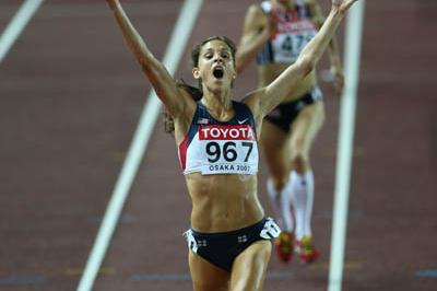 bronze medal celebration for Kara Goucher in the women's 10,000m (Getty Images)