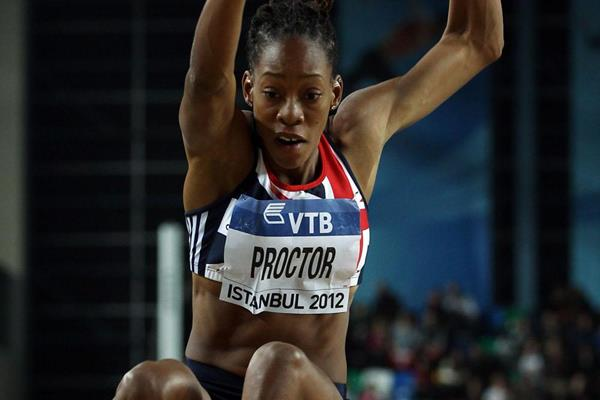 Shara Proctor of Great Britain competes in the long jump at the IAAF World Indoor Championships Istanbul 2012 (Getty Images)