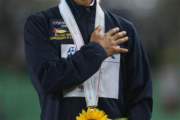 Jefferson Perez of Ecuador - 20km Race Walk gold medallist (Getty Images)