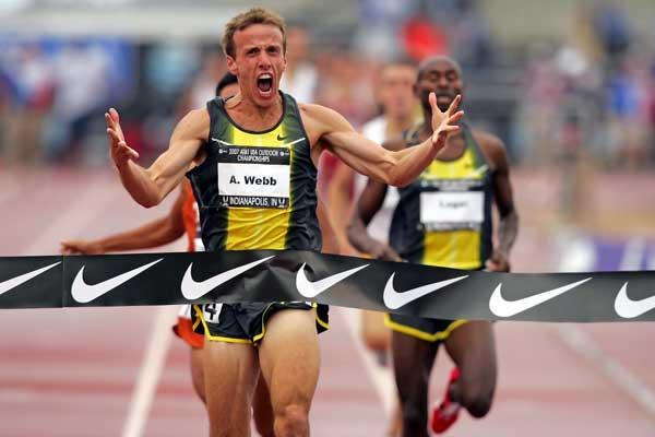 Alan Webb - 3:34.82 - meet record - USATF (Getty Images)