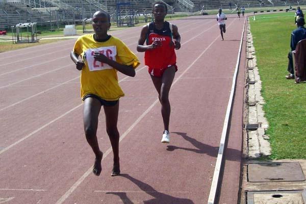 Cynthia Cherop, winner of the women's 5000m in Nairobi Provincial Champs (Peter Njenga)