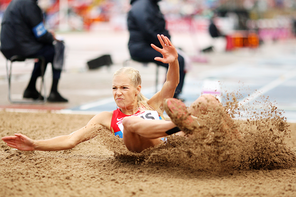 Darya Klishina in the long jump at the European Team Championships (Getty Images)