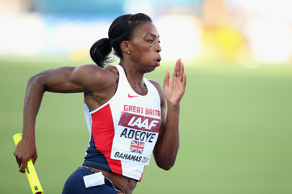 Britain's Margaret Adeoye in the 4x400m at the IAAF World Relays, Bahamas 2014 (Getty Images)