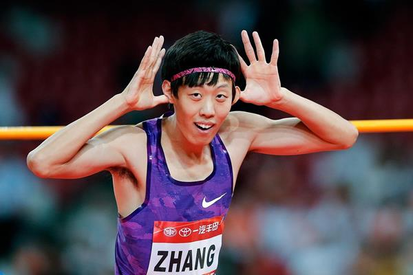 Zhang Guowei at the 2015 IAAF World Challenge meeting in Beijing (Getty Images)