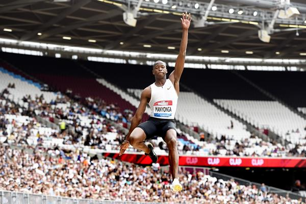 Luvo Manyonga sails to victory in London (Mark Shearman)