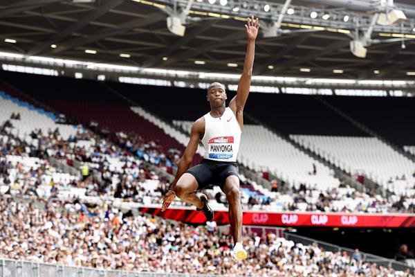 Luvo Manyonga sails to victory in London (Mark Shearman)