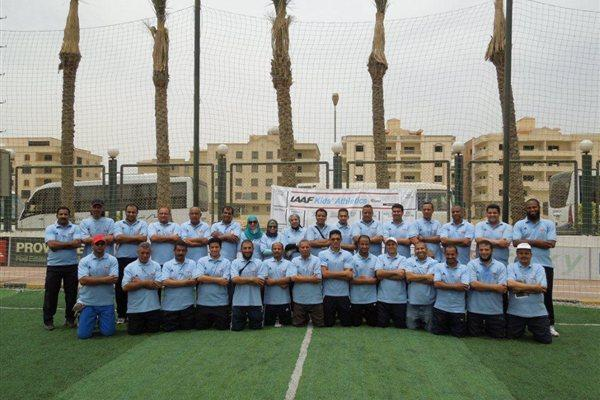 Participants at a Kids' Athletics Lecturers course in Cairo (IAAF)