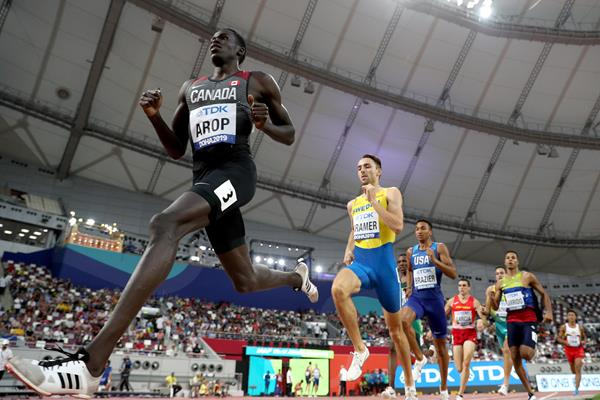 Canada's Marco Arop in action in the 800m at the World Athletics Championships Doha 2019 (Getty Images)