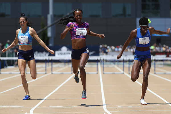Dalilah Muhammad wins the 400m hurdles at the US Championships (Getty Images)