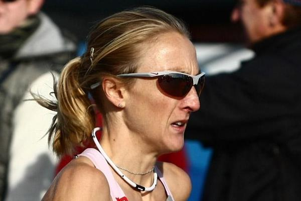 In total command - Paula Radcliffe en route to her third New York Marathon victory in 2008 (Getty Images)