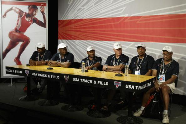 The Night of Speed from left to right: Hines, Bambuck, Pender, Questad, Miller and Greene (Getty Images)