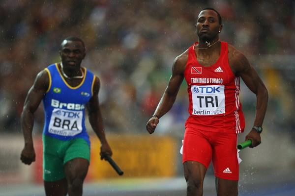 Trinidad and Tobago's Richard Thompson in the 4x100m (Getty Images)