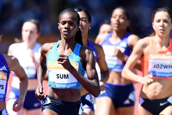 Eunice Sum at the 2015 IAAF Diamond League meeting in Birmingham (Jean-Pierre Durand)