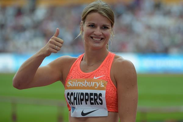 Dafne Schippers at the 2015 IAAF Diamond League meeting in London (Kirby Lee)