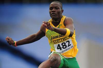 Omar McLeod of Jamaica in action during the boys 400m Hurdles - WYC LILLE  (Getty Images)
