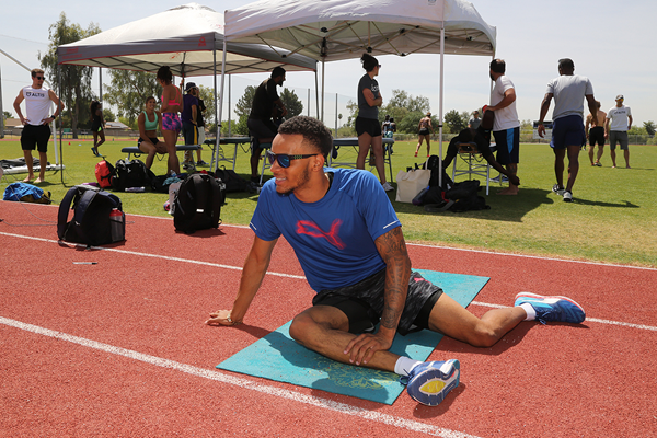 Canadian sprinter Andre De Grasse at his training base in Phoenix, Arizona (Jean-Pierre Durand)