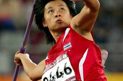 Thailand's Buoban Pamang wins the women's Javelin at the Asian Games (Getty Images)