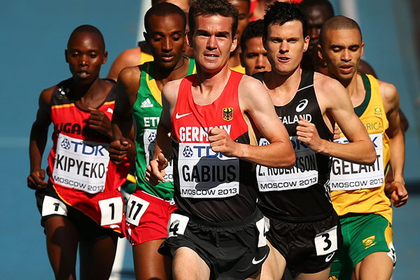 Arne Gabius in the 5000m heats at the 2013 IAAF World Championships in Moscow (Getty Images)