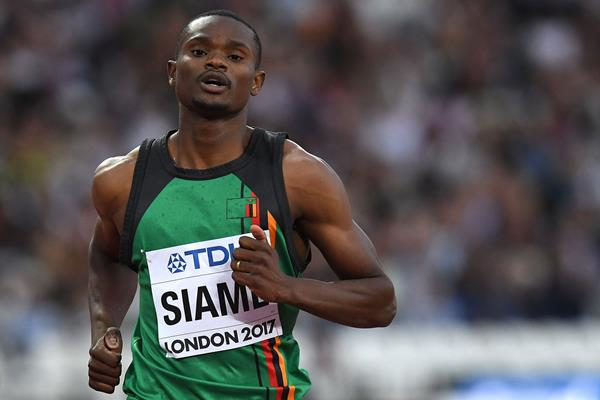 Zambian sprinter Sydney Siame (AFP / Getty Images)