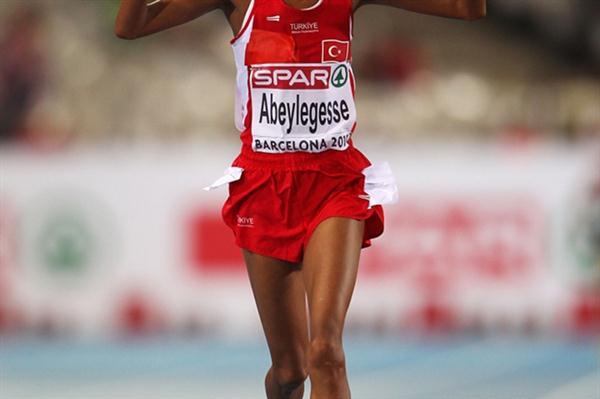 Elvan Abeylegesse finally strikes gold - European 10,000m champion in Barcelona (Getty Images)