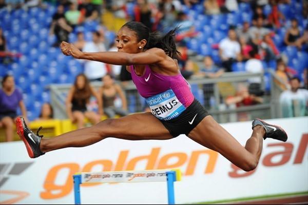 Lashinda Demus en route to her Diamond League win in Rome (Giancarlo Colombo)