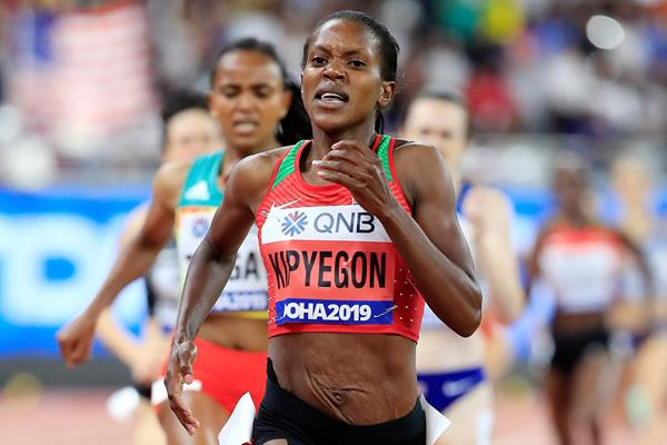 Faith Kipyegon at the IAAF World Athletics Championships Doha 2019 (Getty Images)