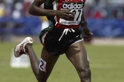 Augustine Kiprono Choge of Kenya winning his 3000m heat (Getty Images)