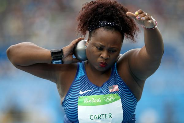 2016 Olympic shot put champion Michelle Carter in Rio (Getty Images)