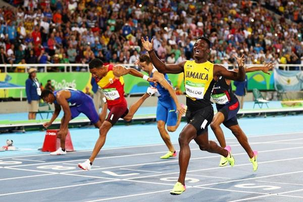 Omar McLeod wins the 110m hurdles at the Rio 2016 Olympic Games (Getty Images)