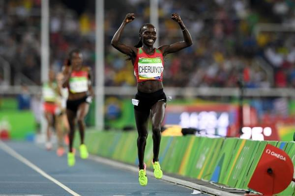 Vivian Cheruiyot wins the 5000m at the Rio 2016 Olympic Games (Getty Images)