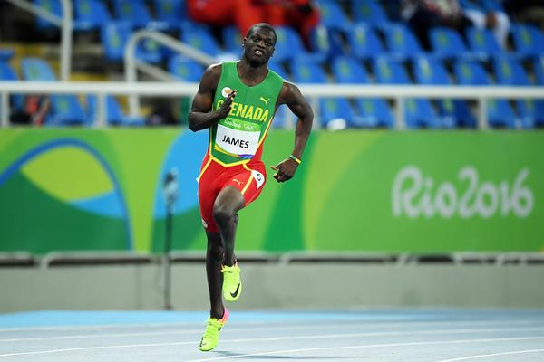 Kirani James in the 400m heats at the Rio 2016 Olympic Games (Getty Images)