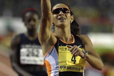 Ana Guevara wins the 400 metres (Getty Images Allsport)