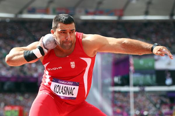 Asmir Kolasinac of Serbia competes in the Men's Shot Put qualification on Day 7 of the London 2012 Olympic Games at Olympic Stadium on August 3, 2012 (Getty Images)