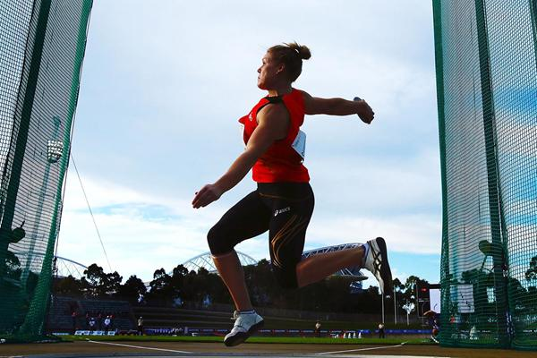 Dani Samuels, winner of the discus in Sydney (Getty Images)