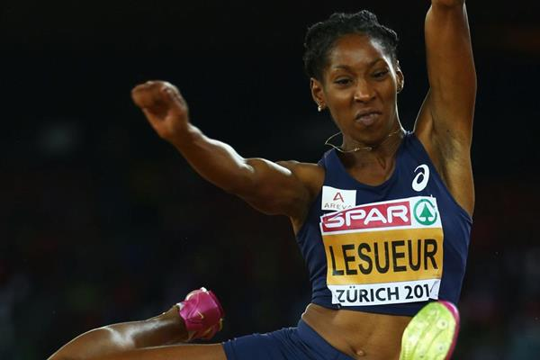 Eloyse Lesueur wins the long jump at the European Championships (Getty Images)