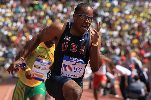 US sprinter Walter Dix in the 4x100m (Getty Images)