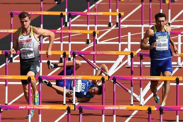Rico Freimuth in the decathlon 110m hurdles at the IAAF World Championships London 2017 (Getty Images)
