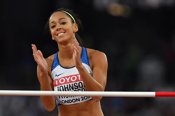 Katarina Johnson-Thompson in high jump qualifying at the IAAF World Championships London 2017 (AFP/Getty Images)