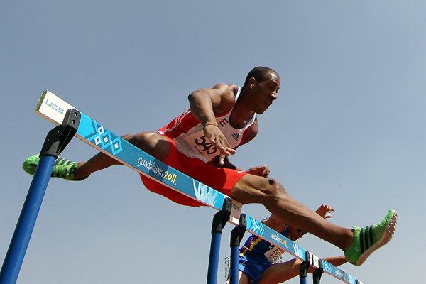 Orlando Ortega in action in the 110m hurdles (Getty Images)