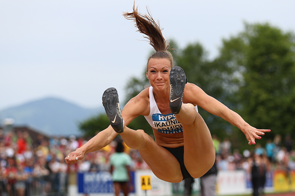 Laura Ikauniece-Admidina in the heptathlon long jump at the Hypo-Meeting in Gotzis (Getty Images)