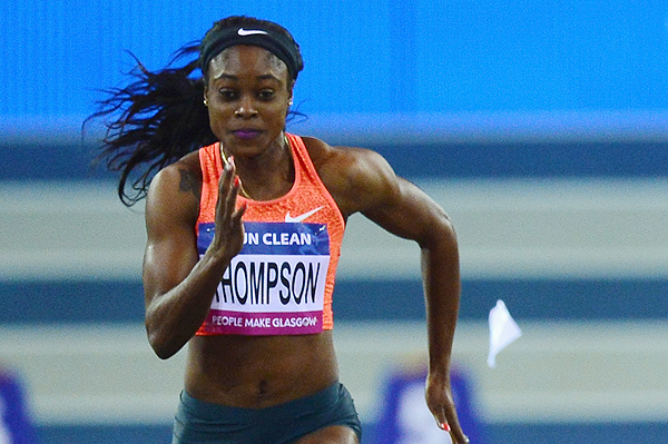 Jamaica's Elaine Thompson in action in the 60m (Getty Images)