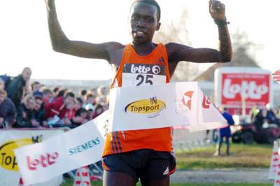 Bernard Kiprop Kipyego after a command performance in Roeselare (Nadia Verhoft)
