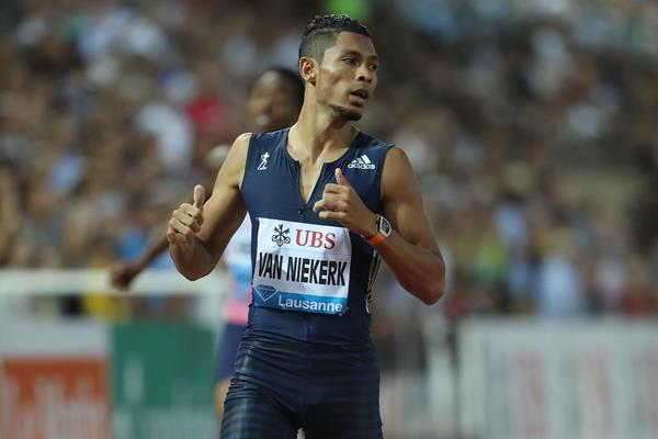 Meeting record for Wayde van Niekerk in Lausanne (Giancarlo Colombo)
