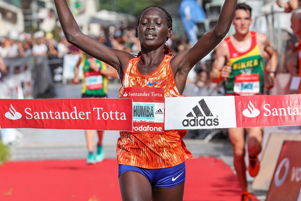 Eunice Chumba wins the Rock'n'Roll Lisbon Half Marathon (Organisers / Kevin Morris)