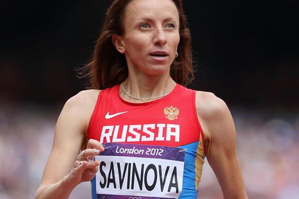 Mariya Savinova of Russia competes in the Women's 800m Round 1 Heats on Day 12 of the London 2012 Olympic Games  on August 8, 2012  (Getty Images)