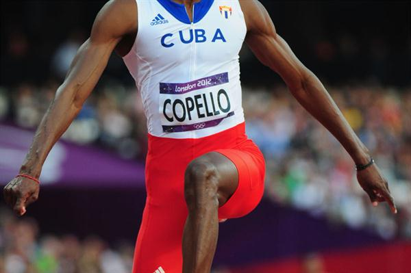 Alexis Copello of Cuba in action during the Men's Triple Jump Final  of the London 2012 Olympic Games on August 9, 2012 (Getty Images)