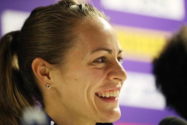 Jenny Simpson on the eve of the 2017 World Championships (Getty Images)